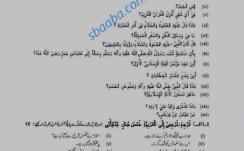 Arabic Guess paper 1st year 2021