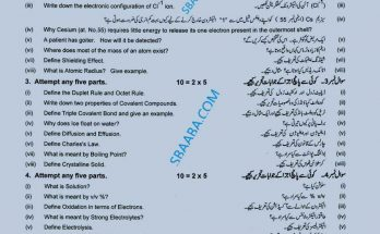 Chemistry 9th class guess paper 2021