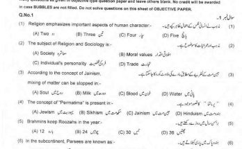 Islamiat Past Paper 9th class 2019