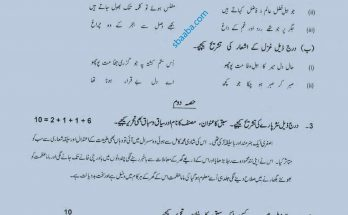 urdu advance past paper 9th class 2019