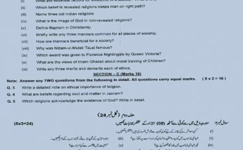 maryam model papers 9th class model paper 2020 class 9 federal board maryam publications solved papers class 9 fbise new paper pattern 2020 ssc 2